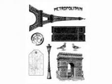 Silikónové pečiatky Paris