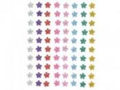 Farebné nalepovacie štrasy - 80ks - kvietky