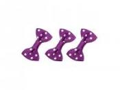 Textilná mašlička s bodkami 25 mm - fialová