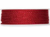 Točená šnúra 2mm metalická - vianočná červená