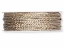 Točená šnúra 2mm metalická - platinová