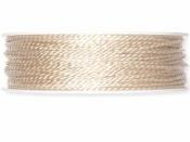 Točená šnúra 2mm metalická - krémová