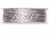 Točená šnúra 2mm metalická - strieborná