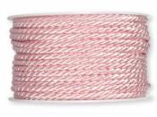 Točená šnúra 4mm metalická - baby ružová