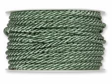 Točená šnúra 4mm metalická - zelená rezeda