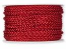 Točená šnúra 4mm metalická - vianočná červená