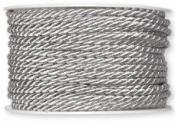 Točená šnúra 4mm metalická - strieborná