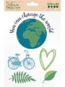 Transférové nálepky na textil - Change The World