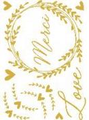 Transférové nálepky - svadobné - zlaté