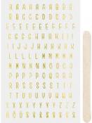 Transférové nálepky - abeceda - zlatá