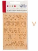 Drevená samolepiaca abeceda