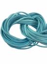 Umelá kožená šnúrka plochá 2,5mm - svetlá modrá