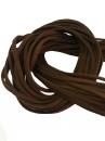 Umelá kožená šnúrka plochá 2,5mm - tmavá hnedá