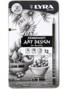 Umelecké grafitové ceruzy - 12 ks