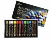 Umelecký olejový pastel 12 ks - metalické odtiene