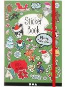 Vianočné nálepky - kniha- 1700 ks