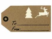 Vianočná kraftová nálepka - štítok