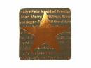 Vianočná nálepka 3 x 3cm - hviezda