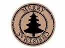 Okrúhla  nálepka 3,5cm - Merry Christmas