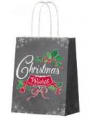Vianočná papierová taška 26 x 32 cm - Christmas Wishes