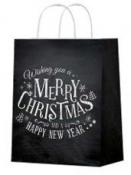 Vianočná papierová taška 26 x 32 cm - Merry Christmas