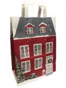 Vianočná papierová taška 34 cm - domček