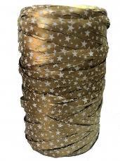 Vianočná umelá stuha 9 mm - zlatá