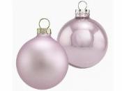 Vianočná sklenená guľa 2,5 cm - pastelová fialová matná