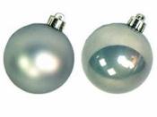 Vianočná sklenená guľa 2,5 cm - arktická modrá lesklá