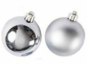 Vianočná sklenená guľa 2,5 cm - lesklá strieborná