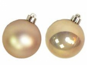 Vianočná sklenená guľa 2,5 cm - lesklá starozlatá