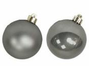 Vianočná sklenená guľa 2,5 cm - lesklá tmavá strieborná