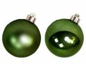 Vianočná sklenená guľa 2,5 cm - lesklá zelená