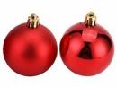 Vianočná sklenená guľa 2,5 cm - červená matná