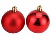 Vianočná sklenená guľa 2,5 cm - červená lesklá