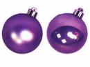 Vianočná sklenená guľa 2,5 cm - fialová matná