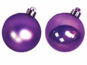 Vianočná sklenená guľa 2,5 cm - fialová lesklá