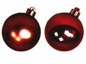 Vianočná sklenená guľa 2,5 cm - baroková červená lesklá