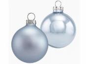 Vianočná sklenená guľa 2,5 cm - ľadová modrá matná