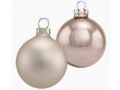 Vianočná sklenená guľa 4 cm - staroružová matná