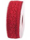 Čipkovaná stuha - čipka 38mm - červená