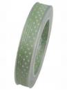 Vianočná stuha 10 mm s hviezdičkami - pastelová zelená
