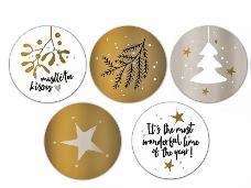 Vianočné nálepky sada 5 kusov Vianočné bozky