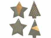 Vianočné ozdoby z betónu - sada 4 kusy