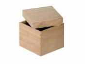 Drevená krabička - kocka - 11x11x11 cm