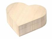 Drevená krabička vyklápacia - srdce