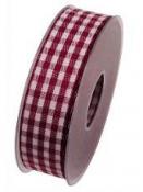 Károvaná stuha 25 mm Scotland - purpur