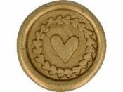 Vosková pečať - srdce - antická zlatá