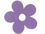Drevený výrez kvet - 7cm - fialový