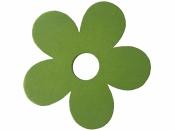 Drevený výrez kvet - 7cm - zelený